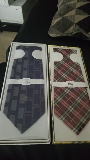 Versace tie Burberry tie for Sale in Silver Spring, MD