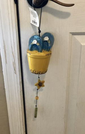 New! Cute heavy ceramic flip flop wind chimes. I have two available $8 each. Great gift! for Sale in Tolleson, AZ