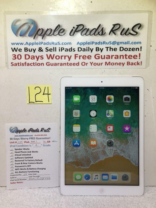 L24 - iPad Air 1 16GB Cell-Unlocked