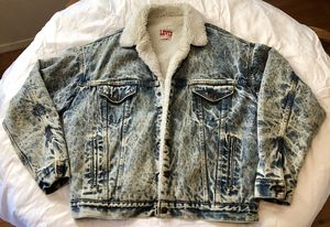 Levi'S Authorized Vintage Sherpa Trucker Jacket - Blue for Sale in Santa Ana, CA
