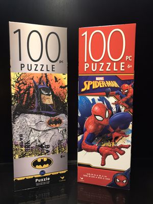 Batman & Spider-Man Puzzle Bundle for Sale in Liberty Hill, TX