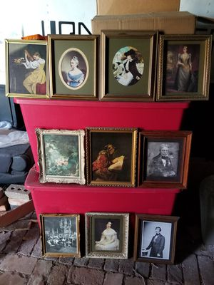 Box of Antique pictures for Sale in Dallas, TX