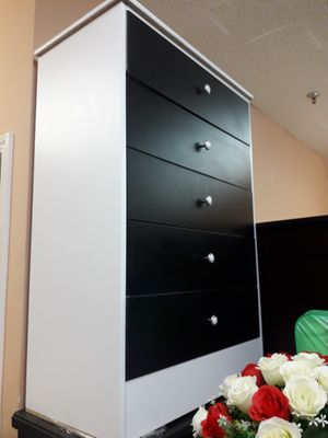 White base with black cabinet dresser for Sale in Alta Loma, CA