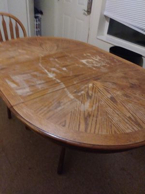 Wooden table with 4 chairs for Sale in Grand Rapids, MI