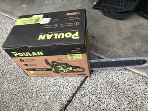 Poulan 14inch gas chainsaw for Sale in Tacoma, WA