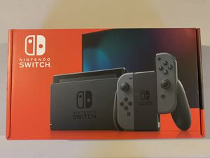 Nintendo Switch Console w/ grey joy-cons brand new for Sale in Clinton Township, MI