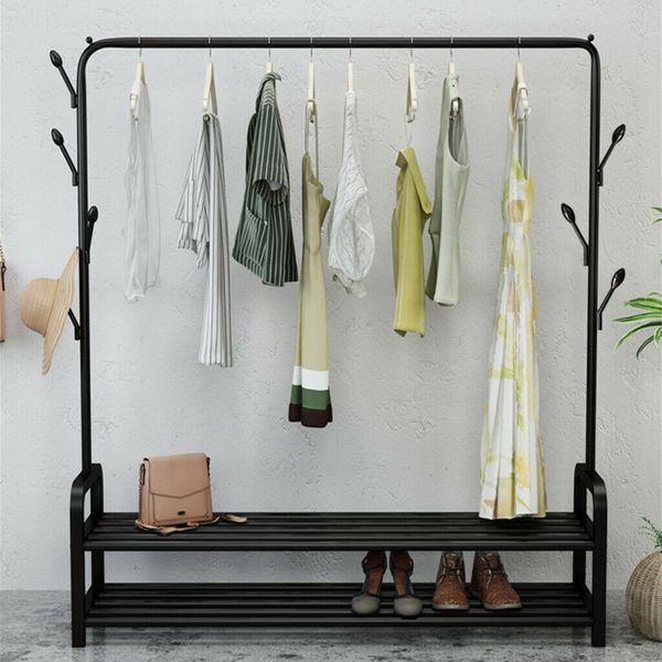 NEW Garment Rack Portable Closet Organizer Clothes Hanger Storage Drying Rack