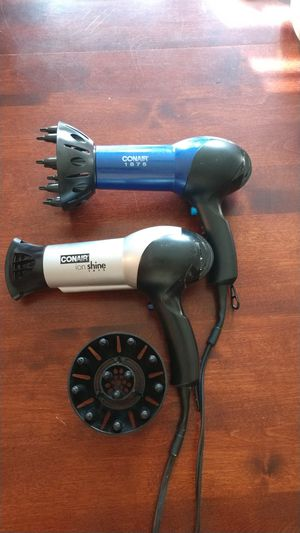 2 Conair ionic 1875W Hair dryers for Sale in North Attleborough, MA