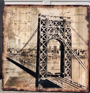 Bridge painting canvas for Sale in Lawrenceville, GA