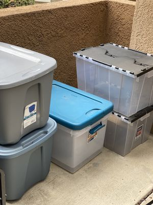 Storage containers and shoe storage for Sale in Riverside, CA