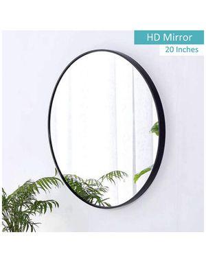 "Wall Round 20"" Mirror, Black Frame, for Bathroom,Bedroom, Living Room for Sale in Burke, VA"
