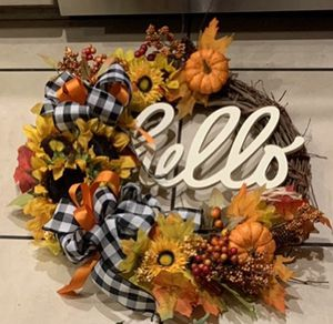 Made to order custom fall wreaths for Sale in Martinsburg, WV