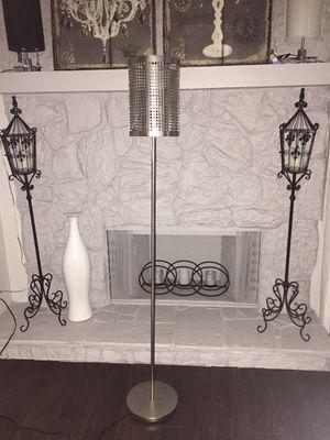 "Brush nickel floor lamp 60"" tall for Sale in Lake Worth, FL"