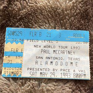 "AUTH VINTAGE WORLD TOUR CONCERT TICKET ""PAUL - ""MCCARTNEY ""!! MINT RARER PIECE !! $60.00 for Sale in Houston, TX"