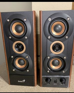 Genius 3-Way Hi-Fi Wood Speakers for PC, MP3 Players, and Tablets (SP-HF800A) Amazon's Choice for Sale in Redmond, WA