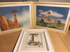 Winnie the Pooh framed pictures (5) for Sale in Windsor, ON