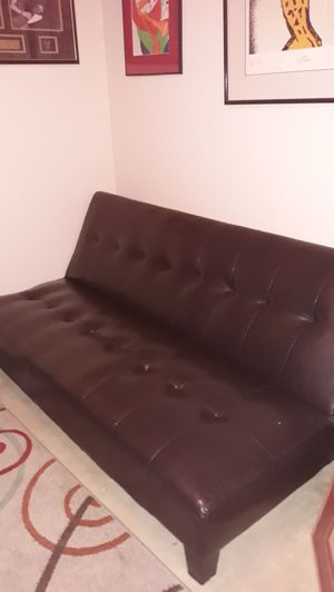 Leather futon for Sale in Webberville, TX