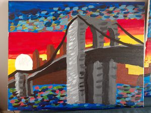 Brooklyn bridge painting (picture) for Sale in Secaucus, NJ