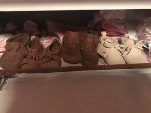 Baby girl shoes size 3/6 months for Sale in Port St. Lucie, FL