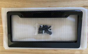 Carbon fiber license plate frame for Sale in Rancho Cucamonga, CA