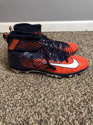 Nike Lunarbeast Elite Blue Orange Football Cleats NikeSkin 847588-806 Size 16 New without box for Sale in Tallmansville, WV