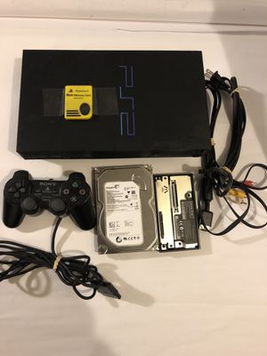 Sony PlayStation 2 Fat Console PS2 With SATA 250GB HDD Loaded With Games Bundle for Sale in Fort Washington, MD