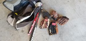 Softball Equipment - Bats - Gloves - Balls and bag for Sale in Montebello, CA