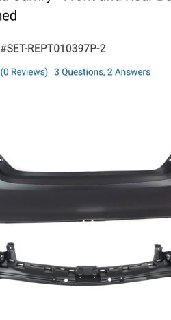 2017 Toyota Camry Front And Rear Bumper Covers for Sale in Fort Worth,  TX