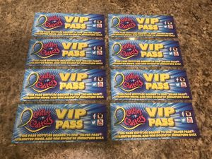 (8) Silver VIP passes for Castles & Coasters - Amazing deal!!!! for Sale in Avondale, AZ