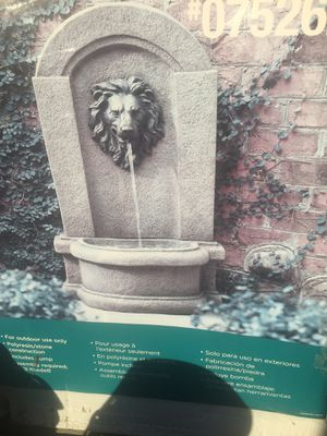Garden treasure lion head fountain regular 170.00 asking 100 each in box brand new 23.8x17x39 for Sale in Columbus, OH