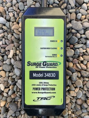 Rv Travel Trailer Surge Guard 34830 Portable with LCD Display - 30 Amp for Sale in Portland, OR