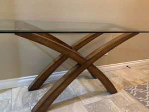 Beautiful Solid Wood/Glass Coffee Table, End Table and Sofa Table for Sale in Sammamish, WA