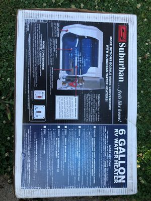 Travel trailer, camper, motor home, RV water heater. 6 gallon (Brand new in box) for Sale in Round Lake Heights, IL