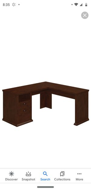 L Shaped Desk in Antique Cherry for Sale in Porterville, CA