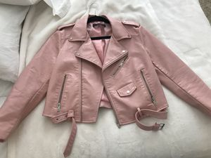 Negociable Zara Pink Leather jacket for Sale in Miami, FL