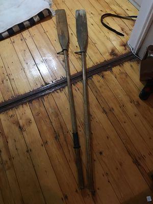 Wooden oars (7ft each) for Sale in Boston, MA