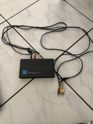 TV box, Antenna, remote control, cables for Sale in Midway City, US