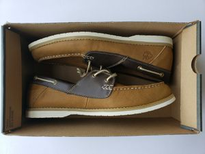 Mens Timberland Size 11.5 Hommes Boat Shoes / Boots Brown/Tan Two-tone for Sale in Cypress, TX