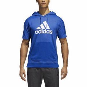 Adidas short sleeve pocket hoodie men's XL blue for Sale in Phoenix, AZ