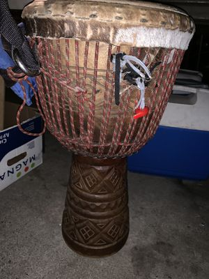 CARVED AFRICAN TRIBAL DRUM for Sale in San Jose, CA