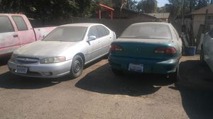 1999 nissan altima and 1998 chevy cabalier for part only. I have engine and transmission good for Sale in Fresno, CA