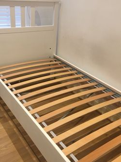 Newer Ikea Hemnes Twin Bed Frame With Tempurpedic Mattress. Possibly Can Deliver for Sale in San Diego,  CA