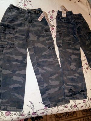 Boys Camo Cargo Pants (new) for Sale in Imperial, PA