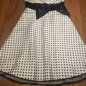 Junior's Strapless Black/White Polka Dot Cocktail Dress for Sale in Geneva, FL