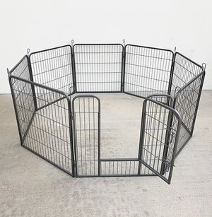 """(NEW) $90 Heavy Duty 32"""" Tall x 32"""" Wide x 8-Panel Pet Playpen Dog Crate Kennel Exercise Cage Fence for Sale in Whittier, CA"""