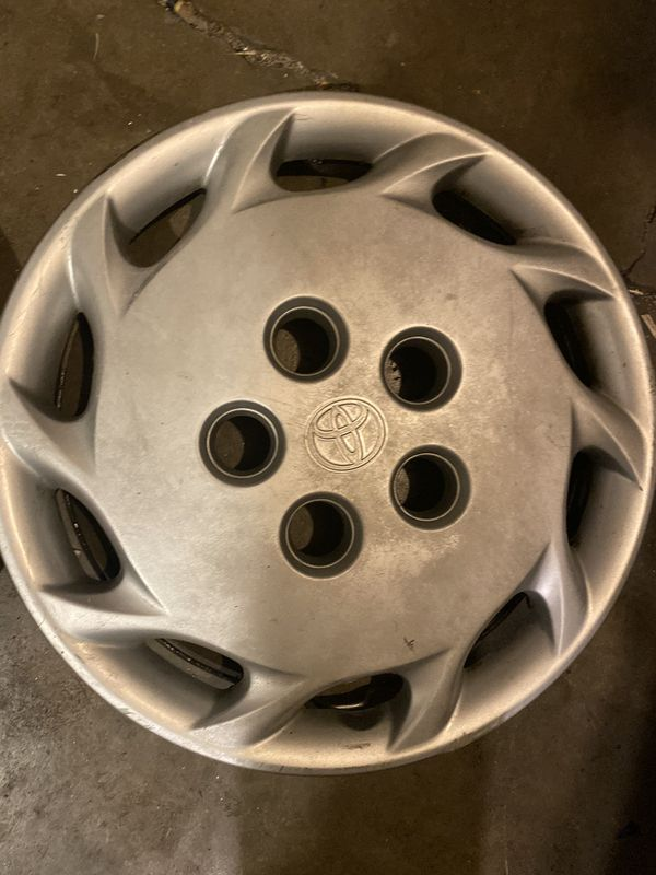 Two 14'' Toyota hubcaps