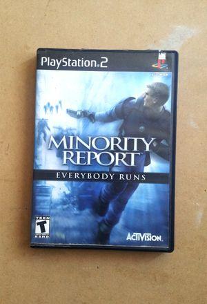 Minority Report Everybody Runs, PS2 for Sale in El Cajon, CA
