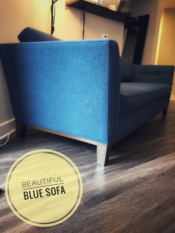 Modern Blue Sofa