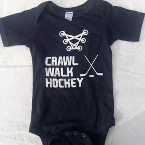 Hockey Onesies I2 Months In Navy or Red for Sale in Ballwin, MO