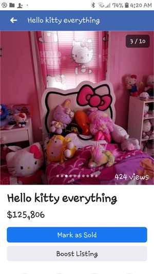 Like new hello kitty bed for Sale in Butler, PA